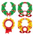 set of wreaths and emblems vector image vector image