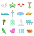 Singapore travel icons set cartoon style vector image vector image
