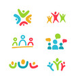 social relationship logo and icon set colorful vector image vector image