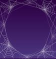 spooky halloween spider web frame border vector image vector image