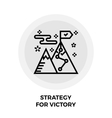 Strategy For Victory Line Icon vector image vector image