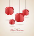Stylized christmas balls vector image