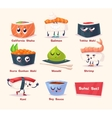 Sushi set Soy sauce and sushi roll Japanese food vector image vector image