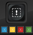 The exclamation point in a square icon symbol Set vector image