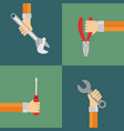tools set flat design style vector image vector image
