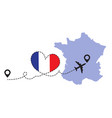 travel to france airplane vector image vector image