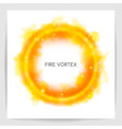 watercolor fire vortex round light flame swirl vector image vector image