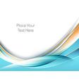 wavy design elements vector image