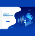 web page design templates cloud computing concept vector image vector image