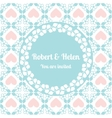 wedding card cute pattern with floral frame vector image