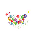 white paper banner colored balloons and colored vector image