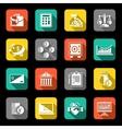 Finance icons set flat vector image