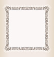 vintage Square frame retro pattern ornament vector image