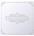 christmas happy new year paper background vector image
