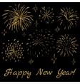 golden glitter fireworks vector image