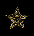 3d golden star banner simple form template card vector image vector image