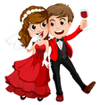 A couple who just got married vector image vector image