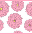 abstract hand drawn dahlia flower seamless pattern vector image