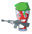 army character tasty beverage fruit watermelon vector image vector image