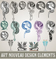 art nouveau design elements