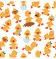 baduck seamless pattern cute ducklings kids vector image