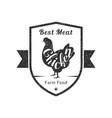 best meat premium quality retro poultry logo vector image vector image