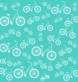Bicycle blue seamless pattern vector image