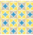 Blue and yellow marble textured tiles seamless vector image