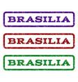 brasilia watermark stamp vector image vector image