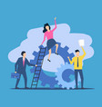 business teamwork people work together vector image