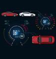 car service digital automotive dashboard of a vector image vector image