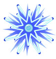 cartoon blue button in the style of christmas vector image vector image
