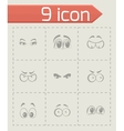 cartoon eyes icons set vector image