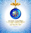 Christmas ball Christmas tree decorations blue vector image vector image