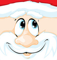 christmas santa claus in square vector image vector image