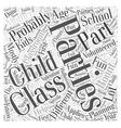 Class parties Word Cloud Concept vector image vector image