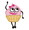 cute cartoon cake vector image