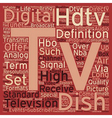 dish tv hdtv text background wordcloud concept vector image vector image