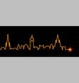 edinburgh light streak skyline vector image