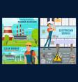 electricity repairman power generation plants vector image vector image