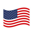 flag united states of america waving design vector image