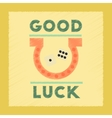 flat shading style icon good luck logo vector image
