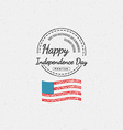 fourth july independence day usa badges logos vector image vector image
