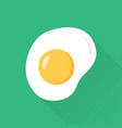 fried eggs flat style with long shadow vector image vector image
