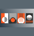 geometric minimal design for flyer poster vector image vector image