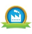 Gold factory logo vector image vector image