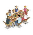 group of friends on picnic vector image vector image