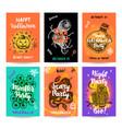 halloween trendy posters vector image vector image
