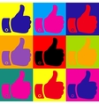 Hand sign Pop-art style icons set vector image vector image