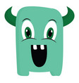 happy green monster or color vector image vector image